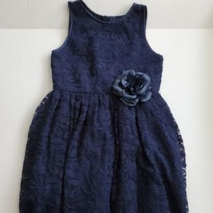 Other - Girls Navy & Lace Party Dress